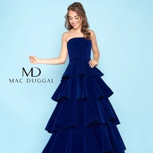 Size 14 Mac Duggal Velvet Ball Gown